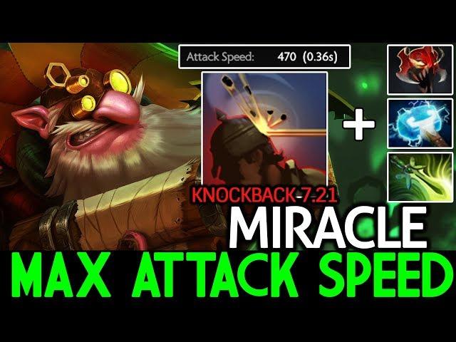 Miracle- [Sniper] New Headshot Knockback Max Attack Speed 7.21 Dota 2