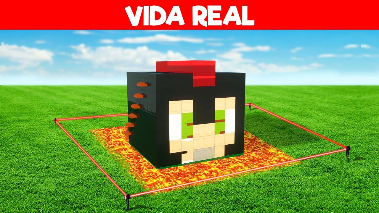 CONSTRUYO LA BASE SEGURA de INVICTOR en LA VIDA REAL 😱 Minecraft Vida Real