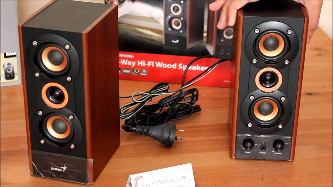 Genius SP-HF800A 2.0 Computer Speaker unboxing and overview - YouTube