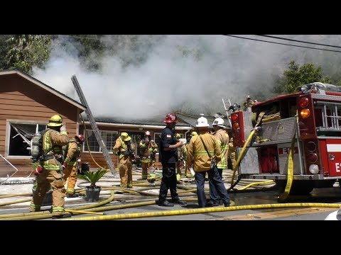 Silverado Canyon House Fire  4.23.18