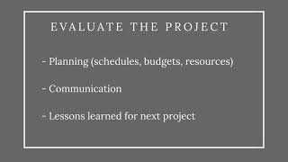Completing Your Project (Achieving Your Goal)
