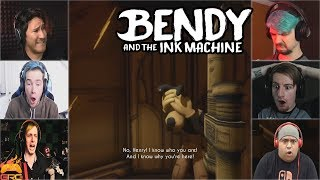 Gamers Reactions to The Elevator Fall (Part 2) | Bendy and The Ink Machine - Chapter 3