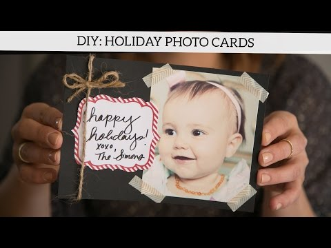 DIY: Holiday Photo Cards