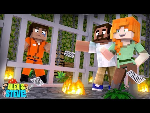 Minecraft STEVE GETS SENTENCED TO DEATH!!! Life of Alex & Steve