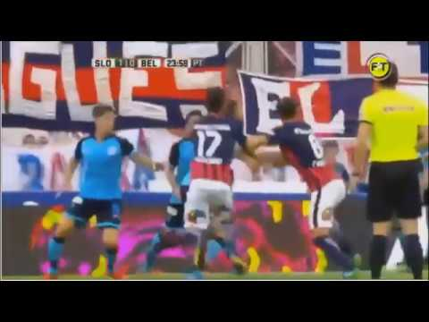 Gol de Paulo Diaz - San Lorenzo 1 x 0 Belgrano Cba - Fecha 15 - Liga Argentina