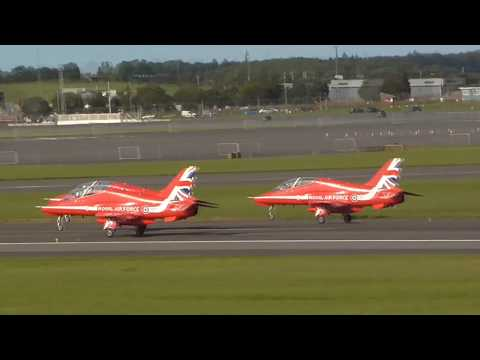Spectacular Red Arrows display   Scottish Airshow September 2015