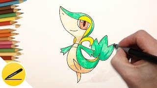 How to Draw Snivy Pokemon step by step - Art Lesson for Kids