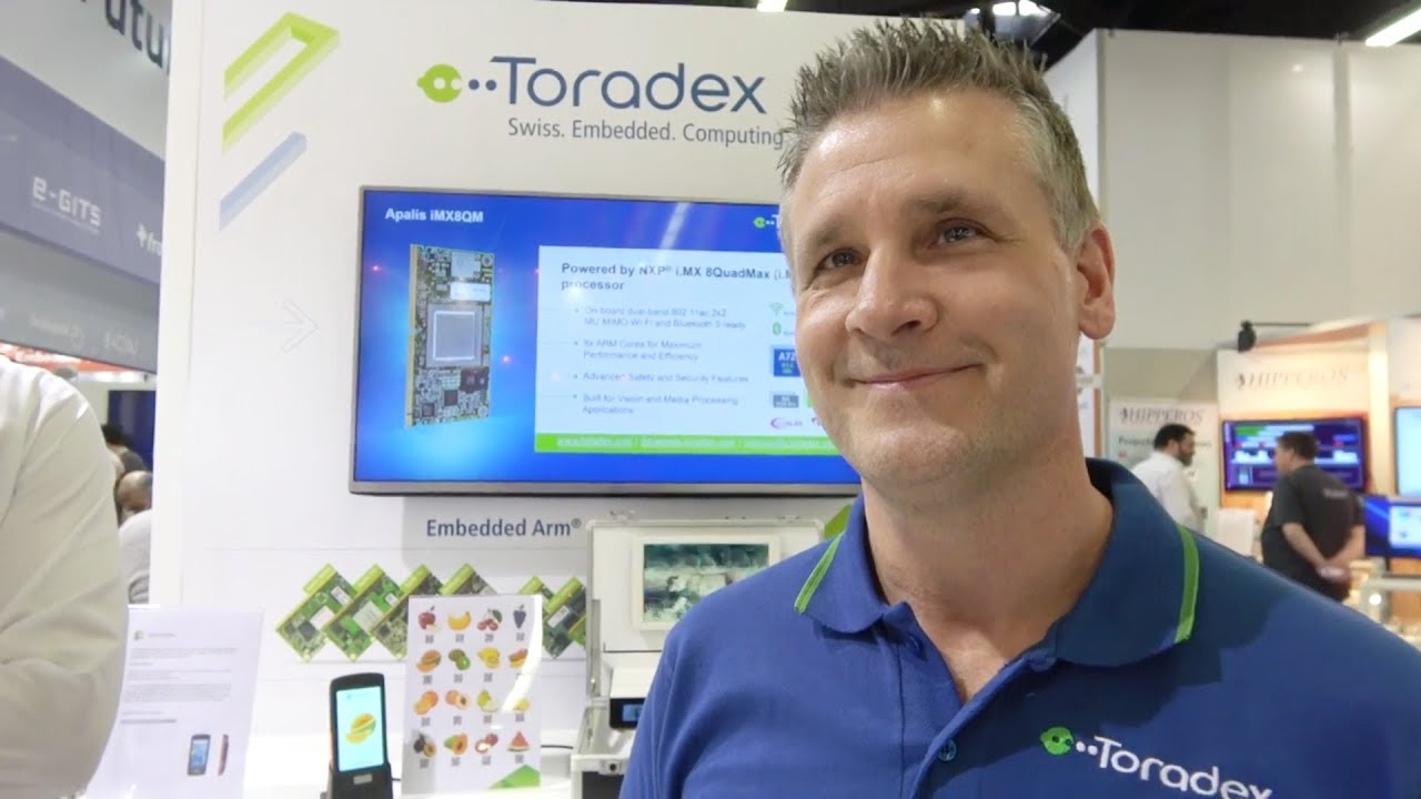 Toradex at the Qt booth at Embedded World 2018