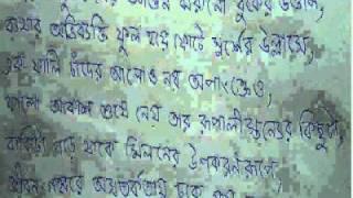Manobpremer Prokriti - a Bengali poem or kobita by poet Biswajit Ganguly