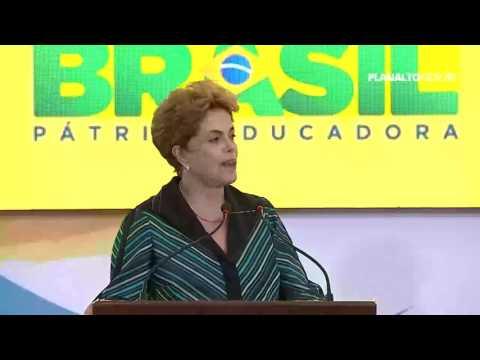presidenta Dilma Rousseff fala sobre o golpe