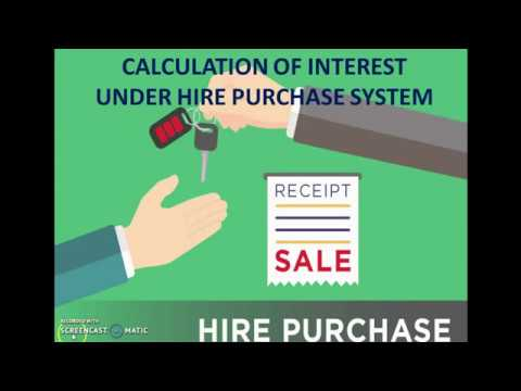 calculation of interest under hire purchase system