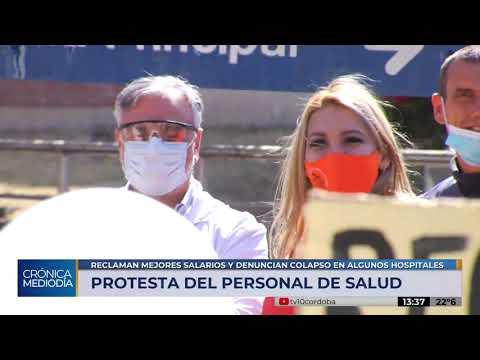 Protesta del personal sanitario: reclaman mejores salarios y denuncian colapso en hospitales