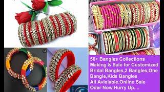 #50 silk Thread Bangles with P…