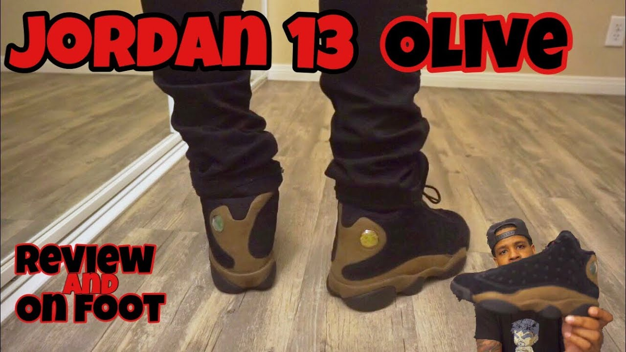c75ff2afbad Early Look!!! Jordan 13 Olive Review + On Feet - YouTube