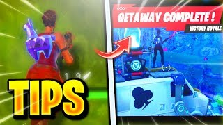 NEW GETAWAY LTM WIN! HOW TO UNLOCK FREE CROWBAR HARVESTING TOOL FAST & EASY! FORTNITE GETAWAY TIPS!