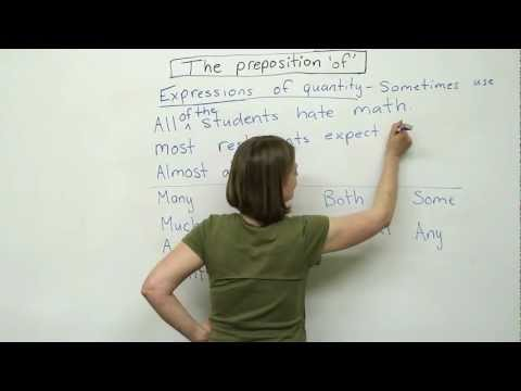 Prepositions in English – OF