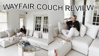 i bought a couch from wayfair | MOORE LIVING MODULAR SECTIONAL REVIEW