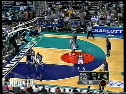 2002 Playoffs - Orlando vs Charlotte - GAME1 PART1 (T-Mac facial on PJ Brown)