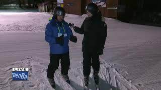 Gino learns to ski at at Nordic Mountain