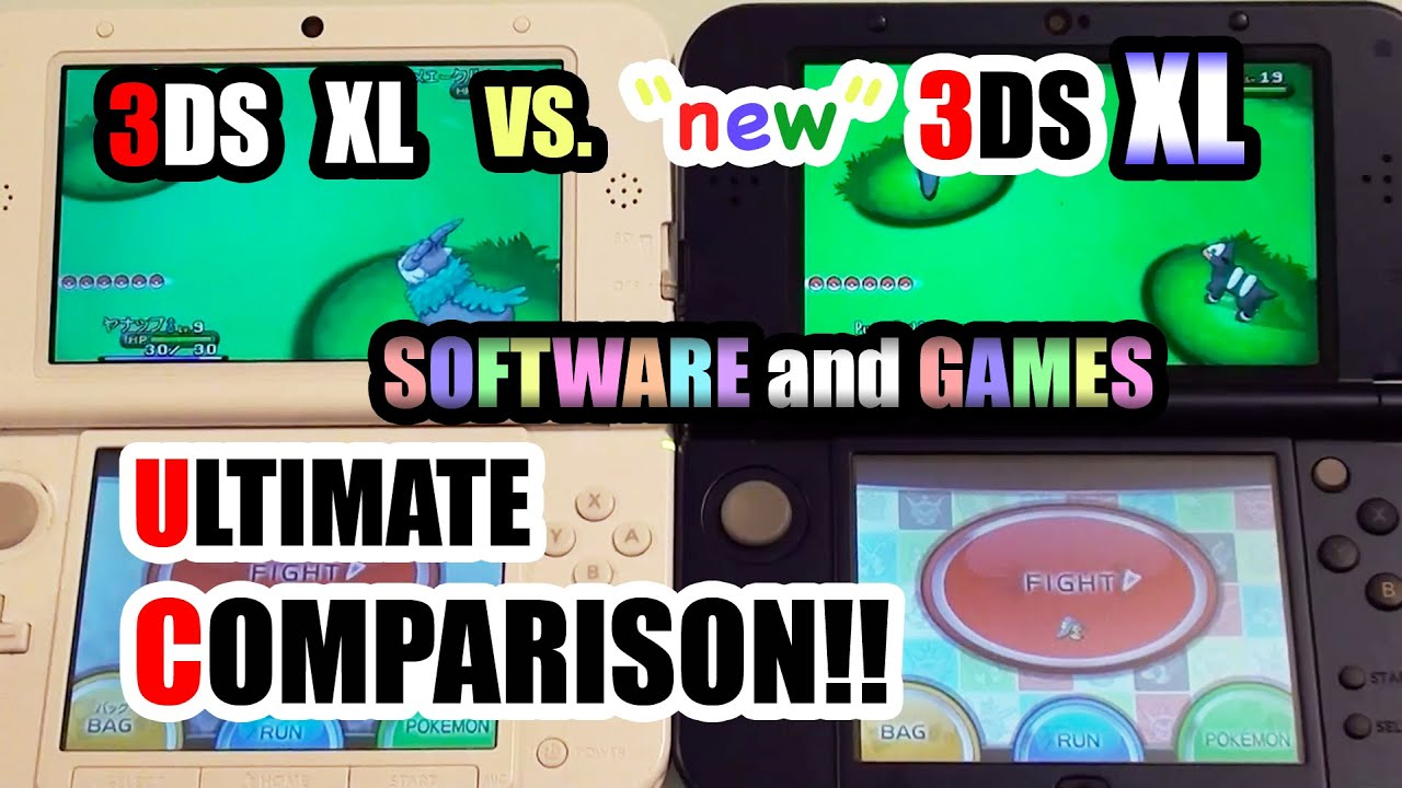 3ds Xl Vs New 3ds Xl Comparison Software Games Speed Test Youtube