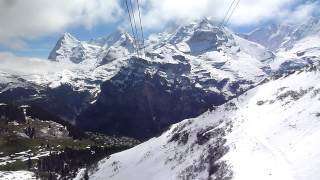 Swiss Alps Cable Car Ride - Mürren to Birg (on the way to Schilthorn)