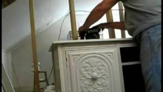Antique Sideboard Turned Into Bathroom Vanity 3rd Vid.wmv