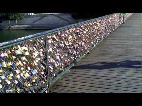 Padlocks on Paris bridges.