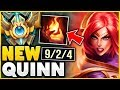 WTF! THIS *NEW* QUINN STRAT IS STOMPING CHALLENGER!? (WIN EVERY GAME AT 20 MINS) - League of Legends