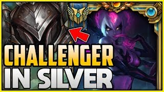 CHALLENGER Evelynn Goes Into Silver! HARD Smurfing in Silver - League of Legends