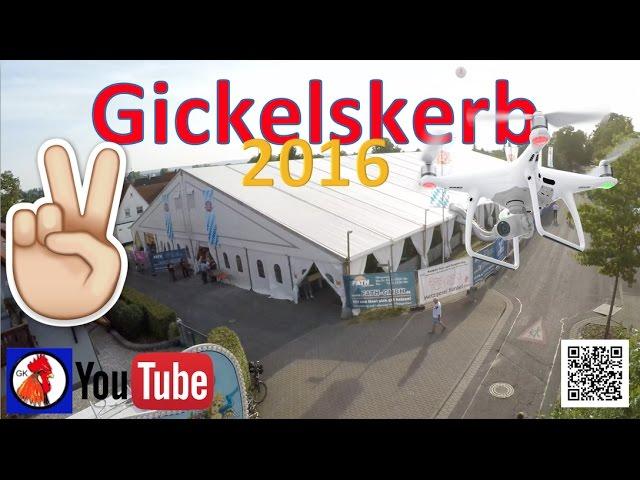 Gickelskerb 2016 Aschaffenburg, aus der Vogelperspektive