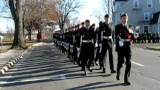 Canadian Army marching in for Lieutenant Governor Graydon Nicholas