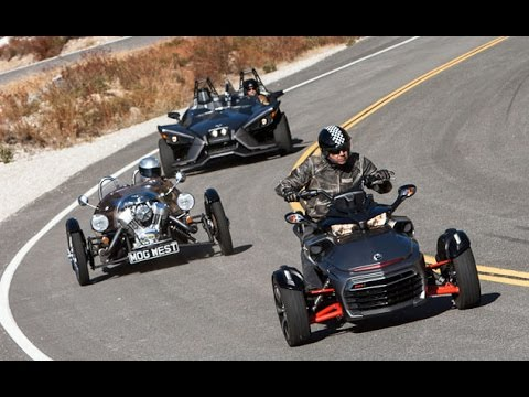 is-this-a-motorcycle-shootout?-polaris-slingshot-vs.-can-am-spyder-f3-vs.-morgan-3-wheeler