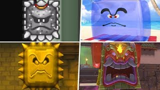 Evolution of Thwomp Characters in Super Mario Games (1988 - 2019)
