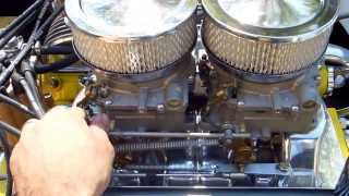 425 Buick Nailhead Belmont Flat Bottom with Winfield Camshaft Running