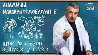 Анализы: иммуноглобулин Е - Доктор Комаровский