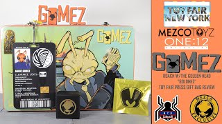 Mezco Toyz Toy Fair Press Gift Bag One:12 Collective Gomez Roach with the Golden Head Review