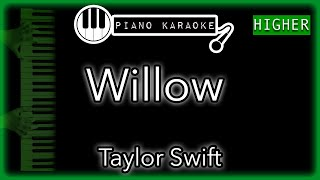 """Piano karaoke instrumental for """"willow"""" by taylor swift (3 semitones higher)you can now say thank you and buy me a coffee! ☕️it will allow to keep bringin..."""