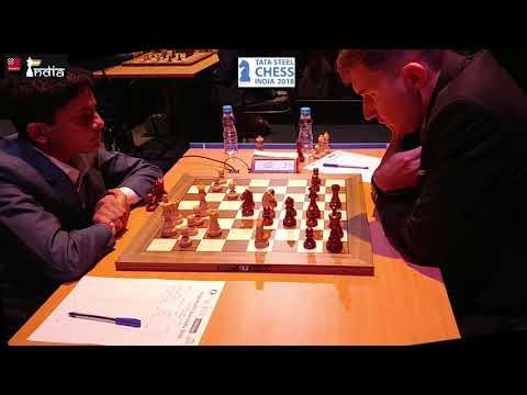Nihal Sarin - Sergey Karjakin | Tata Steel Chess India 2018 | Round 1