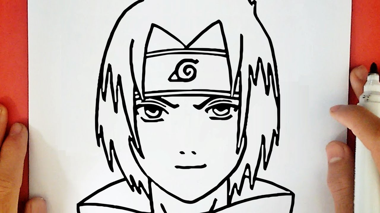 How To Draw Sasuke From Naruto Youtube