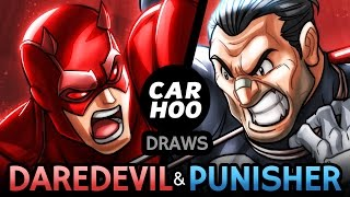 CARHOO Draws【Daredevil & Punisher】800k Subs Special