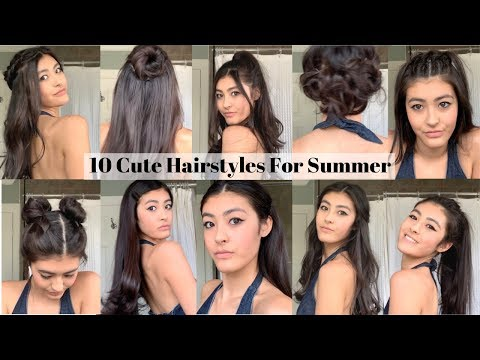 10 Cute Hairstyles For The Summer - YouTube