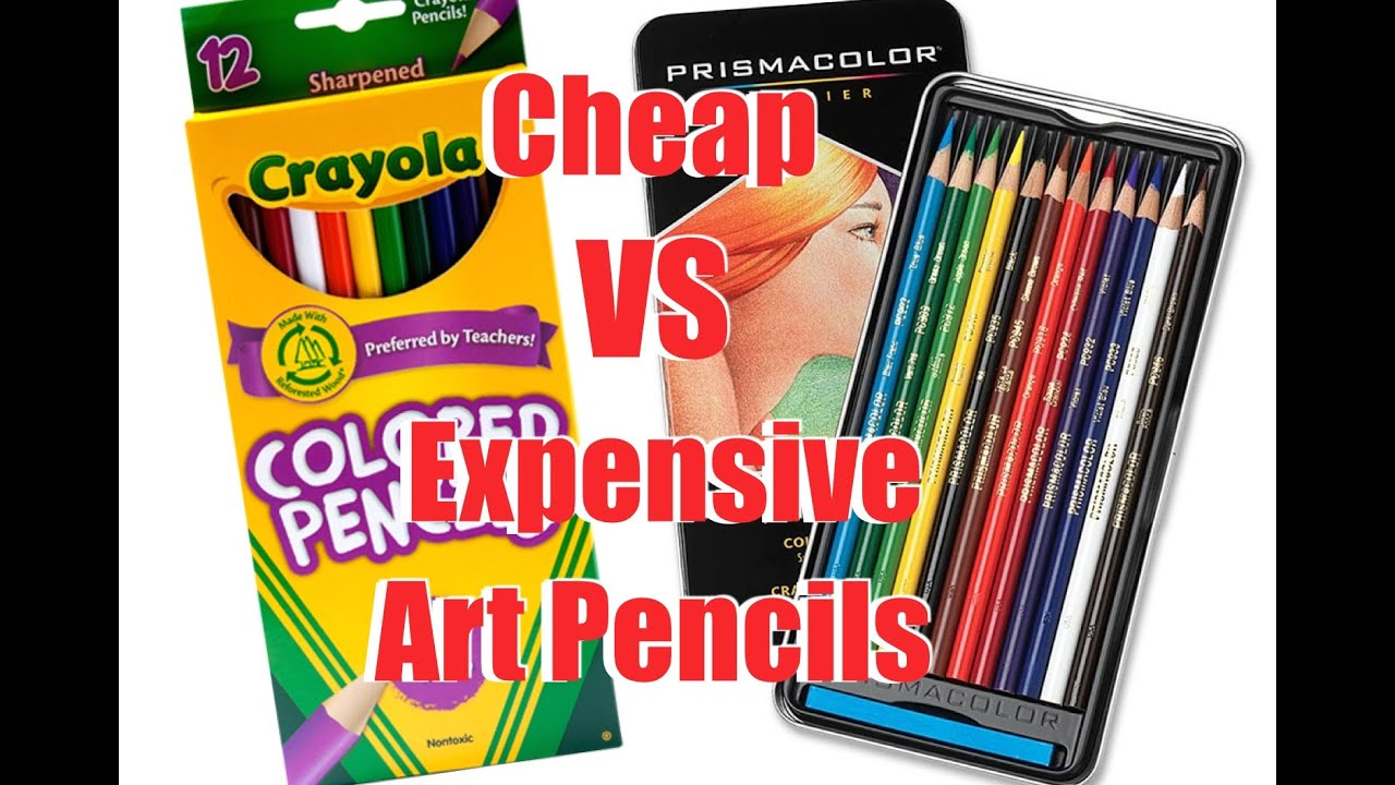 Cheap VS Expensive Art Materials: COLOURING PENCILS - YouTube