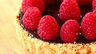 Raspberry Chocolate Tart Recipe - No Bake - Mother's Day Collaboration