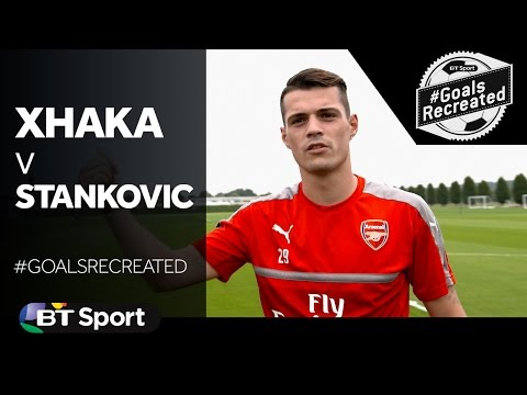 Granit Xhaka tries to recreate Stankovi    39 s stunner in the UEFA Champions League    GoalsRecreat New Flash Game