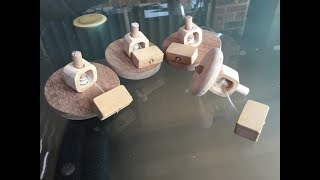 This video shows how easy it is to make a wooden spinning top for your grand-kids.