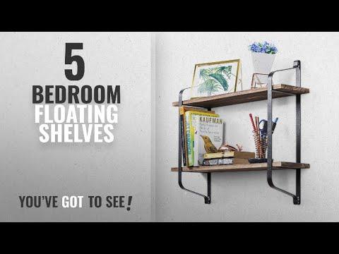 top-10-bedroom-floating-shelves-[2018-]:-love-kankei-rustic-floating-book-shelves-wall-mounted,