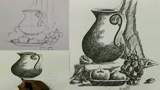 drawing still life - how to draw still-life | Still life Tutorial | Rong-Bahar Art |