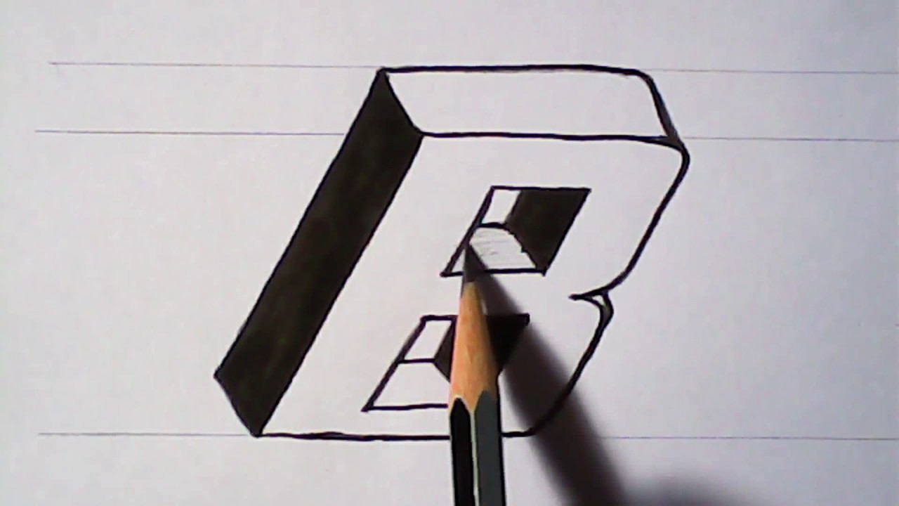 how to write 3d letters