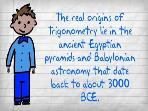 the history of trigonometry The relationships between the angles and the sides of a right triangle are  expressed in terms of six trigonometric ratios the sine (sin) of an angle is the  side.