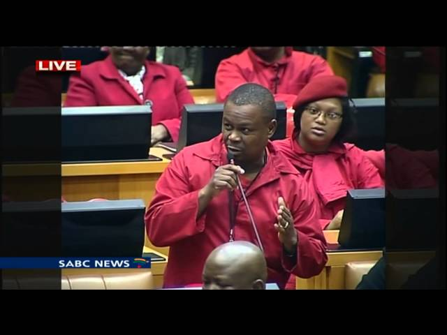 South African political party, the EFF takes on former president Jacob Zuma in Parliament.